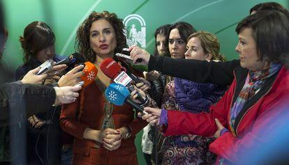 María Jesús Montero, consejera andaluza de Hacienda.