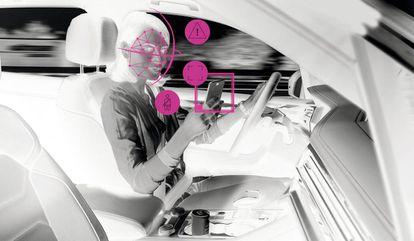 Una de las propuestas de monitorización inteligente consiste en equipar los volantes con una cámara que enfoque al conductor.