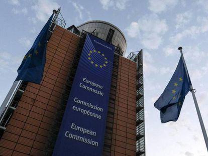 Vista del edificio de la Comisión Europea, este lunes.