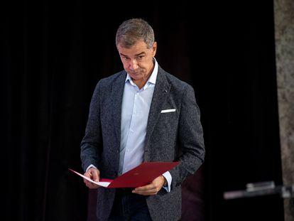 El director de la Oficina del Español, Toni Cantó, durante la presentación de la Oficina del Español.