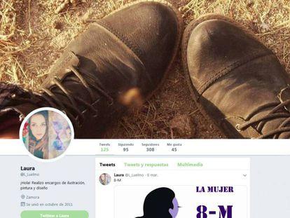 Imagen del perfil de Twitter de Laura Luelmo.