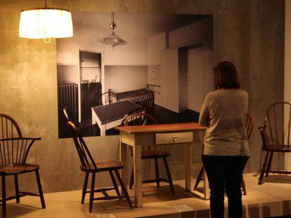 Una pieza de la exposición de Adolf Loos en el CaixaForum de Madrid.