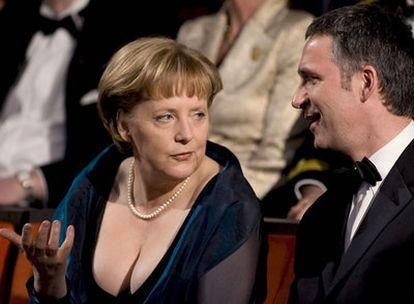 Angela Merkel, en la inauguración de la ópera de Oslo.