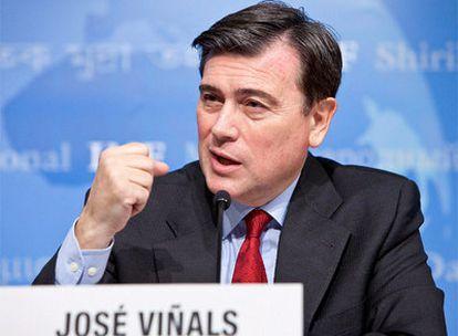 Viñals, durante la conferencia de prensa del FMI en Washington.