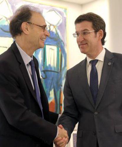 El presidente de la Xunta Alberto Núñez Feijóo se reúne con el embajador de Canadá en España