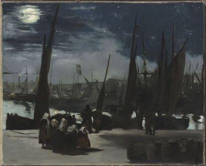 Edouard Manet, 'Luz de la luna en el puerto de Boulogne', 1868.