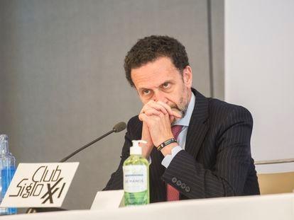 El candidato de Ciudadanos a la Presidencia de la Comunidad, Edmundo Bal, protagoniza el almuerzo-coloquio del club Siglo XXI.