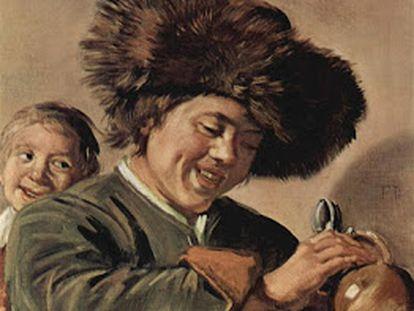 'Dos chicos sonrientes con una jarra de cerveza', obra de Frans Hals fechada en 1626.
