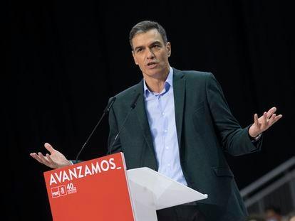 El presidente del Gobierno y Secretario General del PSOE, Pedro Sánchez, en la clausura del 40 Congreso del PSOE en Valencia.