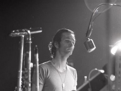 Florian Schneider, durante un concierto de Kraftwerk en Alemania en 1971.