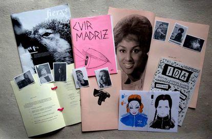 Algunas de las publicaciones del fanzine 'Fusiles transfeministas'.