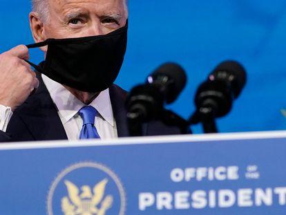 Joe Biden, durante la conferencia de prensa tras la votación del Colegio Electoral.
