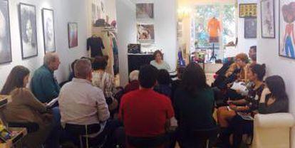 Lecturas en el club de Mamah África, en Madrid.