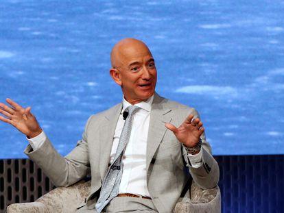 El fundador de Amazon, Jeff Bezos, durante una conferencia.