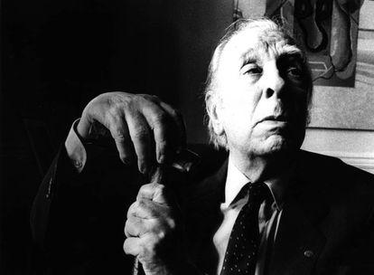 Retrato del escritor argentino, Jorge Luis Borges.