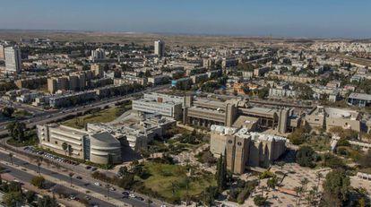 Vista aérea de la Universidad de Beerseba, situada junto al parque tecnológico de la ciudad que concentrará todos los servicios de inteligencia israelíes.