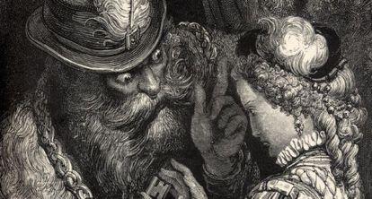 Ilustración de 'Barba Azul', de Gustave Dore