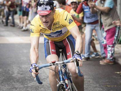 Ben Foster, como Lance Armstrong en una imagen de 'The program (El ídolo)'.