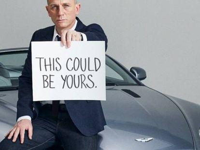 Daniel Craig, el último James Bond, en un anuncio de Aston Martin.