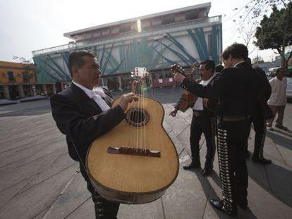 Mariachis en la plaza de Garibaldi, México DF.