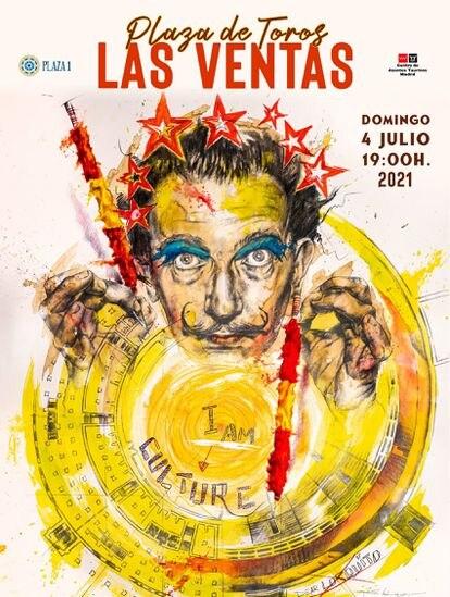 Poster of the Corrida de la Cultura, to be held on July 4 in Las Ventas.