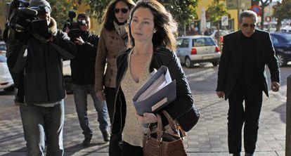 La juez Alaya, el pasado miércoles a su llegada a los juzgados de Sevilla.