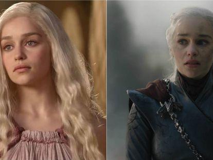 Primera aparición de Daenerys en 'Juego de tronos', y el personaje en el penúltimo capítulo de la serie.