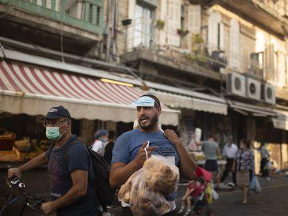 Un vendedor en el mercado Mahne Yehuda de Jerusalén, el viernes.