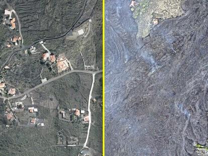 El antes y el después de la catastrófica erupción del volcán de La Palma