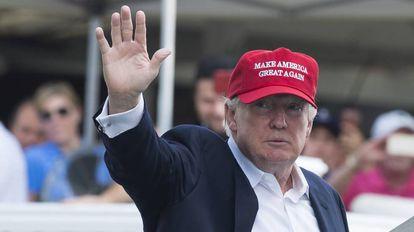 El presidente, Donald Trump, el sábado pasado.
