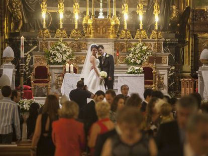 Una boda de una pareja madrileña.