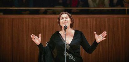 Estrella Morente en un concierto en el Auditorio Nacional, en Madrid.