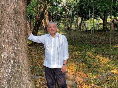 López Obrador, en su finca en Chiapas (sur de México).