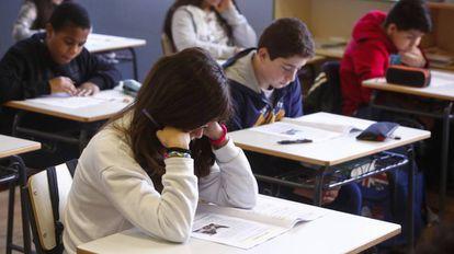Alumnos de Primaria de un colegio de Madrid.