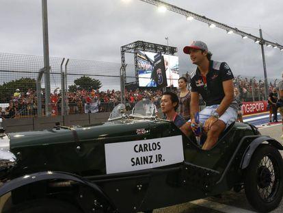 Carlos Sainz, el domingo en el circuito de Singapur.