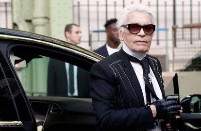 Karl Lagerfeld, a prinicipios de octubre antes de su desfile de Chanel en París.