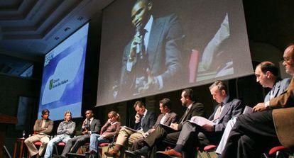 Fórum sobre el deporte celebrado en Mallorca en 2005. Urdangarin es el quinto por la izquierda.