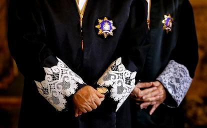 Jueces en un acto de apertura del Año Judicial, en una imagen de archivo.