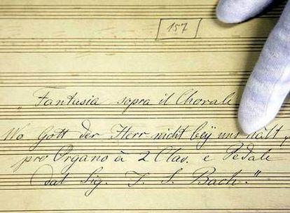 La composición para órgano descubierta por musicólogos de la Universidad de Halle.