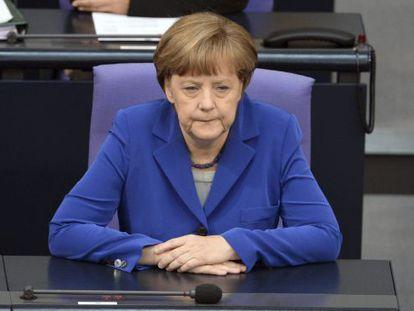 Merkel, este viernes en el Bundestag