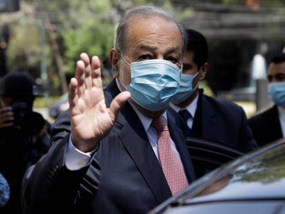 Carlos Slim, la persona más rica de México, el pasado 23 de febrero.