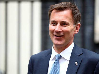 El ministro de Exteriores británico y candidato a suceder a May, Jeremy Hunt, el 22 de julio de 2019 en Londres.