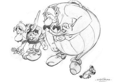 El dibujo con el que Albert Uderzo homenajeó en 2015 a las víctimas del atentado contra la revista 'Charlie Hebdo'.