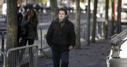 Oriol Pujol llega a la Audiencia Nacional, el 10 de diciembre de 2018.
