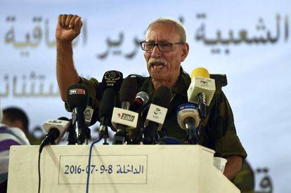 Brahim Gali, líder del Frente Polisario, en una imagen de archivo.
