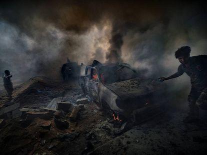 Conflicto (Libia, 2016).
