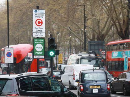 La zona de bajas emisiones de Londres.