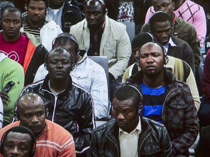 Macrojuicio del 'caso Nilo' en Málaga en noviembre de 2011.