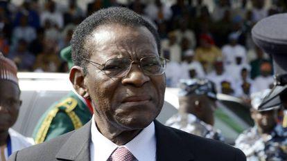 El presidente de Guinea Ecuatorial, Teodoro Obiang, en una imagen de 2015.
