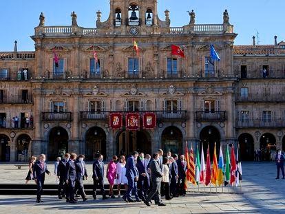 La conferencia de presidentes en  Salamanca.